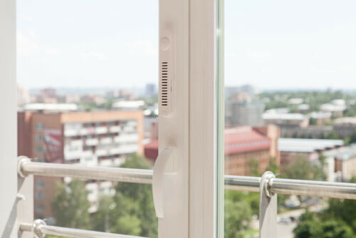 OKFIL Window Filter ventilation with closed windows without dust and noise.