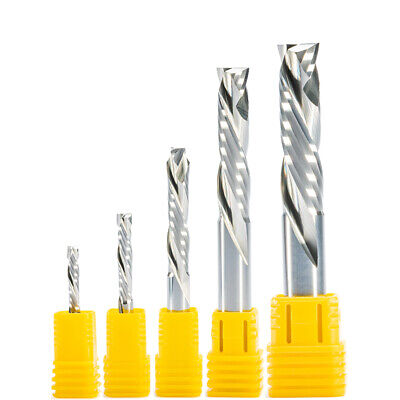 Single Flute Compression UP /& DOWN Cutter Tool Solid Carbide CNC Wood Cutters