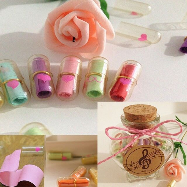 Sale 50 Pcs Gift Full Transparent Message Capsule Cute Love Pill Letter