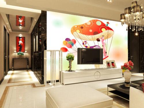Details about  /3D Mushroom 4185 Wallpaper Murals Wall Print Wallpaper Mural AJ WALL UK Lemon