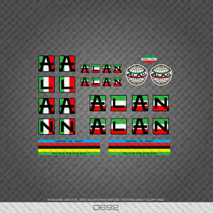 Italian Flag Colours 0692 Alan Bicycle Stickers Decals Transfers