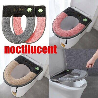Bathroom Soft Toilet Seat Closestool Washable Warmer Mat Cover Pad Cushion G