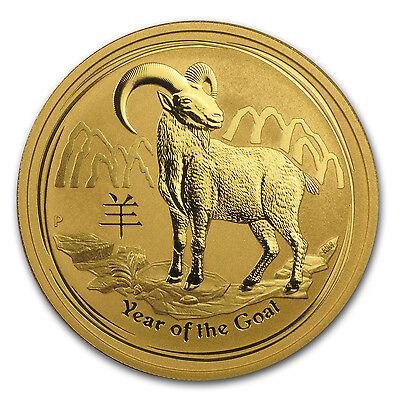 2015 1 oz Gold Australian Perth Mint Lunar Year of the Goat - SKU #84401