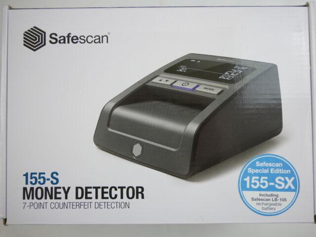 Safescan 155-SX Geldscheinpr/üfger/ät Wiederaufladbarer Akku inklusive