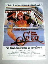UP IN SMOKE Vintage GANJA MARIJUANA SPLIFF Movie Poster CHEECH MARIN TOMMY CHONG