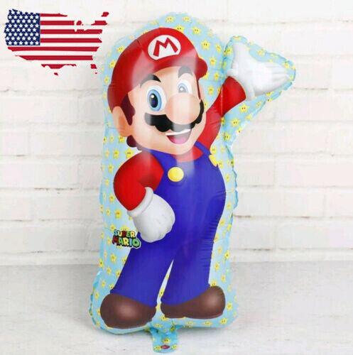 "XL SUPER BIG Super Mario 27/"" Helium Balloon Hero Birthday Party FAST SHIPPING US"