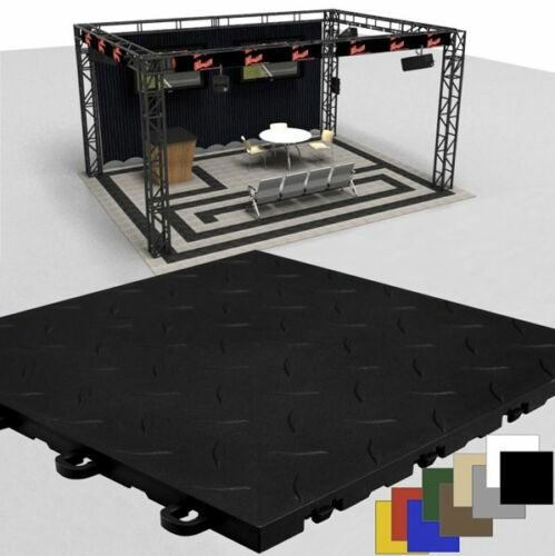 Made In The USA Trade Show Flooring Diamond Black FREE /& FAST DELIVERY