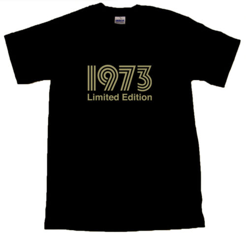 1973 Limited Edition Gold Text T-SHIRT ALL SIZES # Black