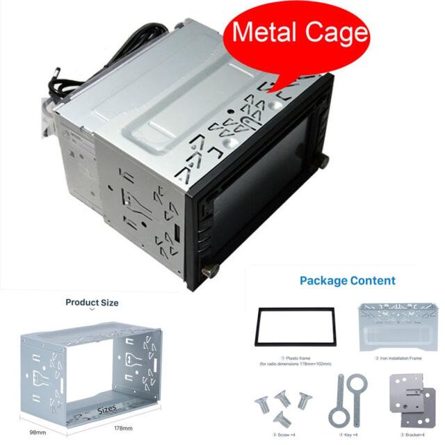 Metal Fascia Mounting Frame Installation Kit for Car 2 DIN Radio Mp5 DVD  Player