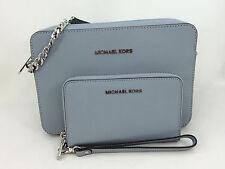 New Michael Kors Jet Set Saffiano Leather Large EW Crossbody/Shoulder Bag Wallet