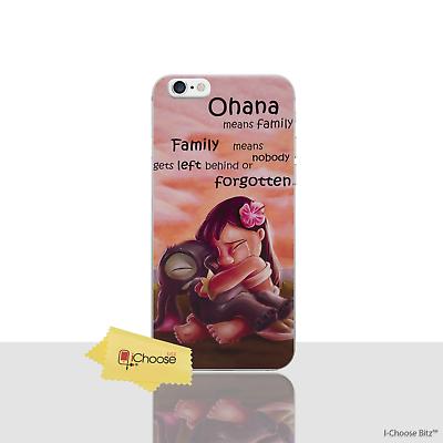 Lilo & STITCH OHANA caso para Apple iPhone 7 Funda protectora de