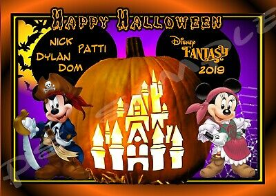 8x10 Custom Disney Cruise Door Magnet Halloween Pumpkin Castle Ebay