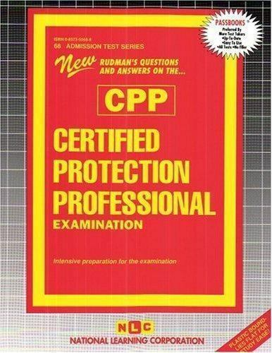 National Learning Corporation-Certified Protection Professional Examina BOOK NEW