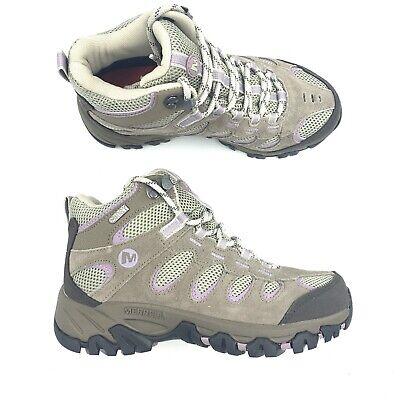 Merrell Womens J227189C Ridgepass Mid Waterproof Hiking Boot Brindle//Seafog SZ 8