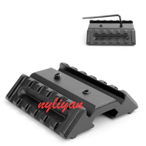 Low Profile 45 Degree Offset Flat Top Dual 20mm Side Rail Mount  For Sight Light