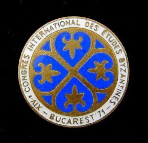XIV-International-Congress-of-Byzantine-Studies-Bucharest-1971-Lapel-Pin-Badge