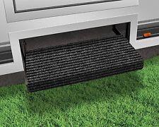 RV Step Rug 19x23in Wrap Around Mat Trailer Camper Door Carpet Stair Cover Black
