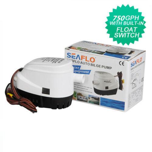 STOCKING SEAFLO 12V Boat Automatic Submersible Bilge Water Pump 750GPH Auto
