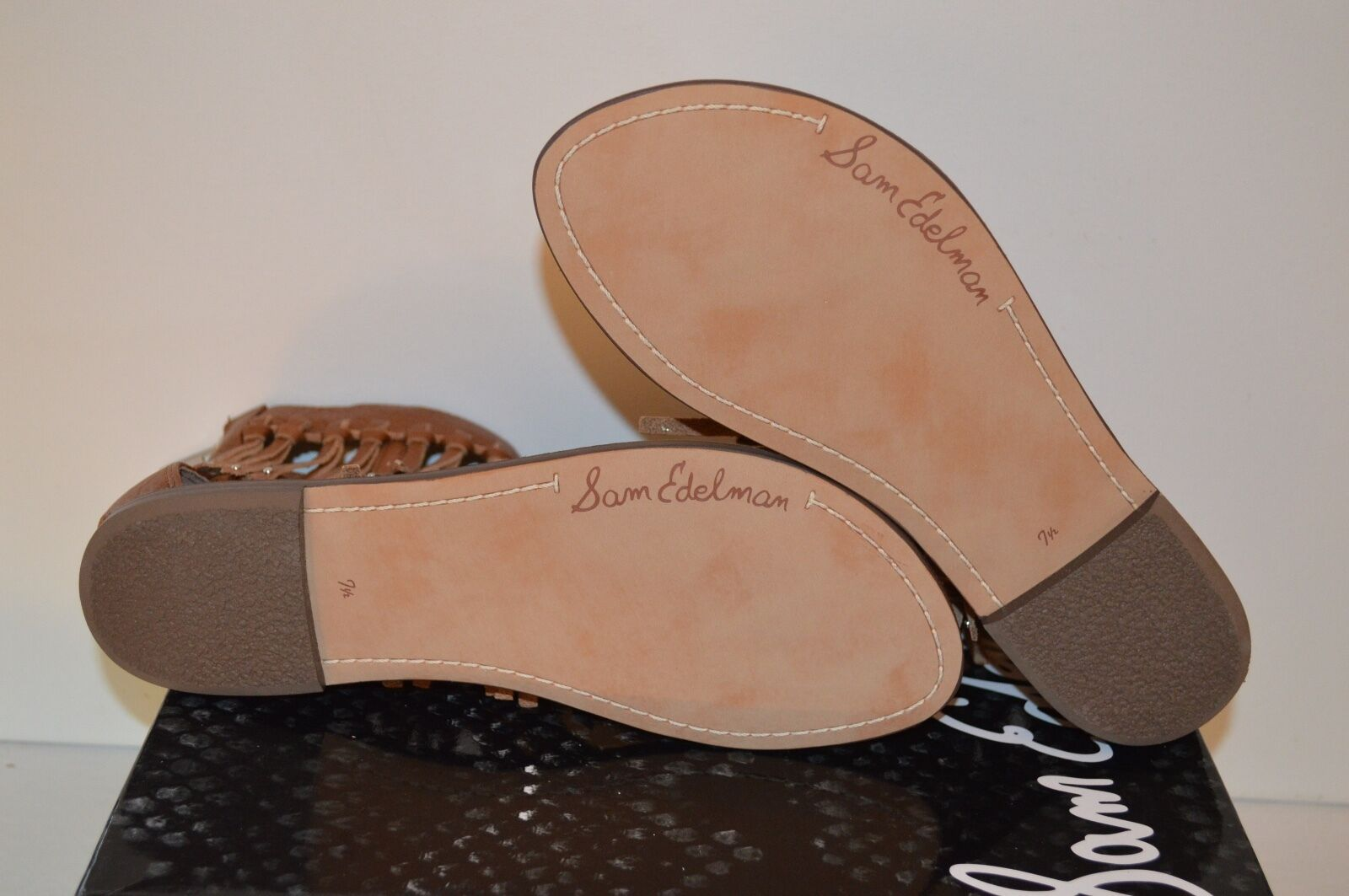 New  130 Sam Edelman Edelman Edelman Griffen Saddle Brown Leather Sandal Fringe Thong Boho 7.5 d11c21