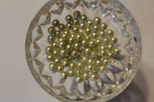100 Stück Wachsperlen 3 mm hellgrün Bastelperlen Perlenketten