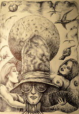 Akt Erotik Grafik ORGINAL NO Poster Love Female Drawing Urban Art 30x40 Women