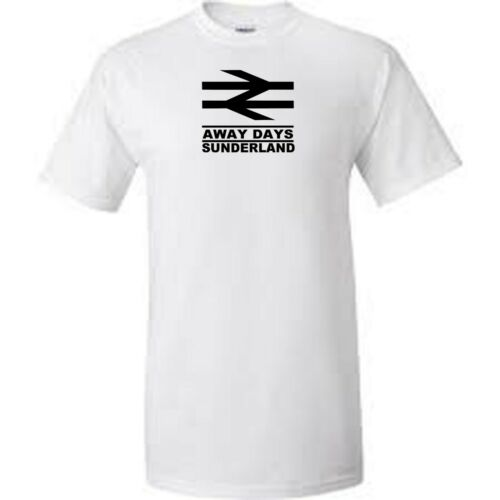 sunderland away days football t shirt add colour and size from menu