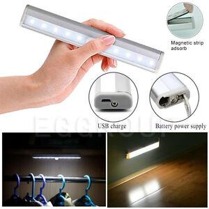 Led Under Cabinet Light Battery Pir Motion Sensor Lamp