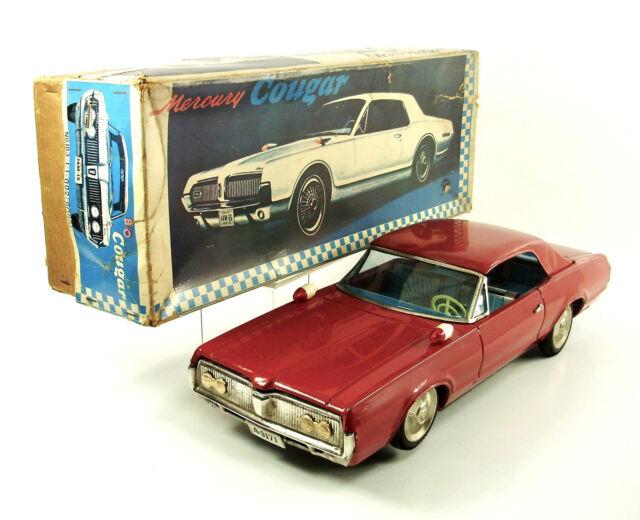 "1968 Mercury Cougar 15.5"" Japanese Tin Car w/Original Box by Asakusa NR"