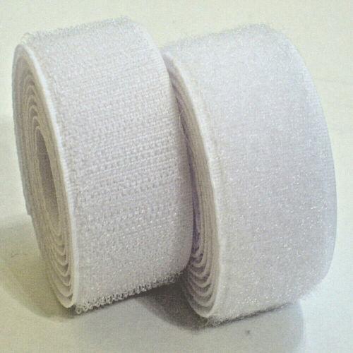 0,35€//m-29,50€//m   Klettband zum Aufnähen Farbe Weiß in Industriequalität