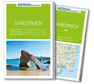 REISEFUHRER-SARDINIEN-LANDKARTE-2014-15-MERIAN-momente-ungelesen-WIE-NEU