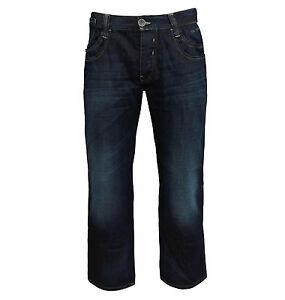 Teddy-Smith-Men-039-s-Riley-Straight-Leg-Relaxed-Fit-Jeans-dark-blue-denim