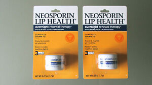 Neosporin Lip Health Overnight Renewal Therapy 0.27 oz  EXP 03/2023 (Pack of 2)