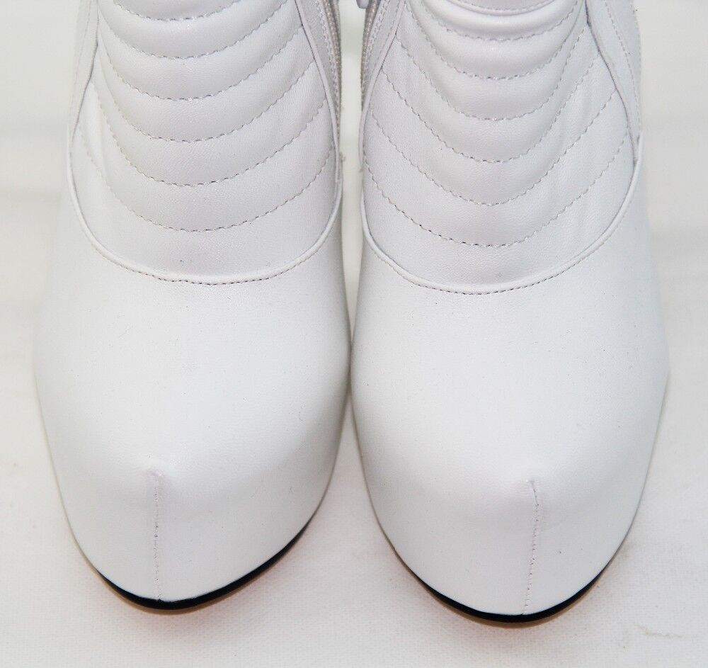 New New New Fashion Women Round Toe High Heel Platform Ankle Boots White Booties f2e2c3