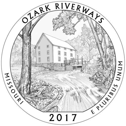 2017 D Ozark Riverways MO America the Beautiful National Parks Business Strike