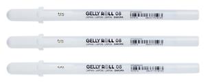 Sakura Gelly Roll  weiß 08 3er Set