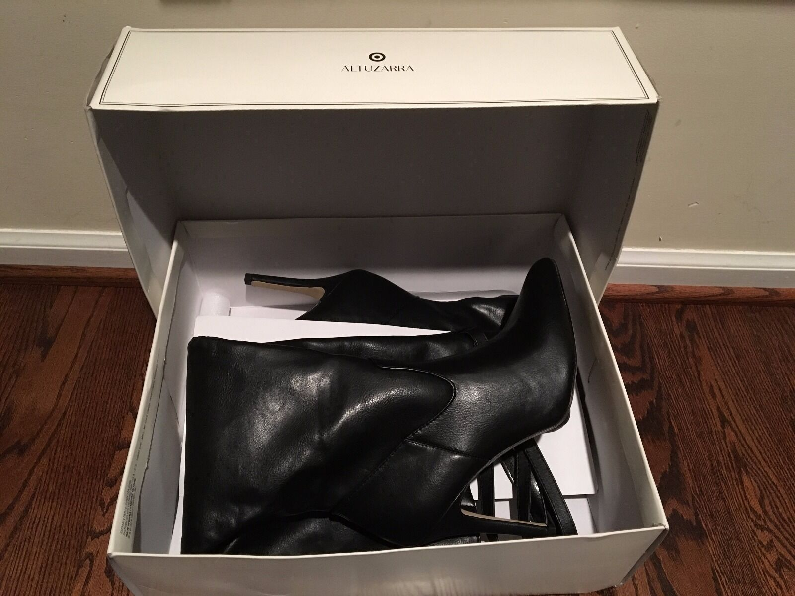 ALTUZARRA for Target Black Over the Knee Faux Leather Leather Leather Boots 10 NWB 682863