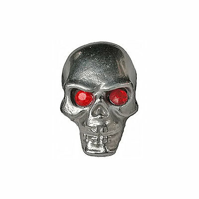 Pinewood Derby Car Tungsten Skull Weight with Red Jewel Eyes
