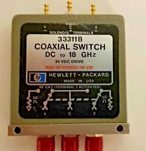 HP-Agilent-Keysight-33311B-SMA-3-puertos-Switch-24V-Enganche-DC-18-GHz-coaxial
