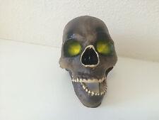 Halloween Realistic Skeleton Skull Head Plastic Crooked Jaw Decor Decoation Prop