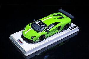 1-18-Lamborghini-Aventador-DMC-Lp988-Verde-HH-no-senor-BBR-Autoart-maquillaje