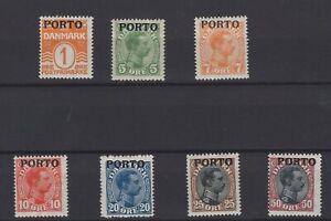 DANIA, DENMARK STAMPS, 1921 Mi. 1-7 P **.