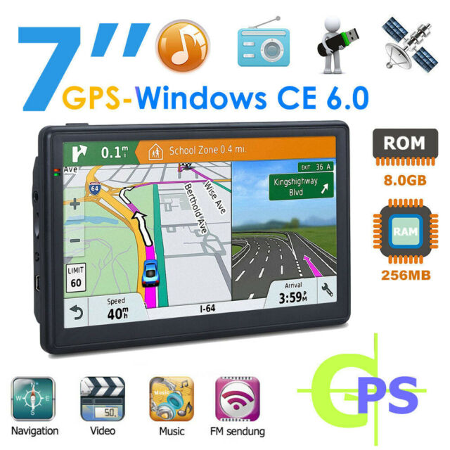 "7"" Sat Nav Truck Car GPS Navigation for Lorry HGV Free Lifetime UK EU Map 8GB"