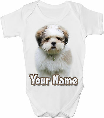 GRO //BODYSUIT  **GREAT GIFT /& NAMED TOO ** BEAGLE DOG PERSONALISED BABY VEST