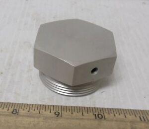 Threaded-Hex-Head-Aluminum-Cap-or-Plug-or-NOS