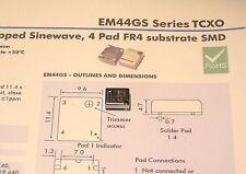 10.000MHZ TCXO EUROQUARTZ TYPE EM44GS  5V/1.5ppm/-20~+70 C CLIPPED SINEWAVE SMD
