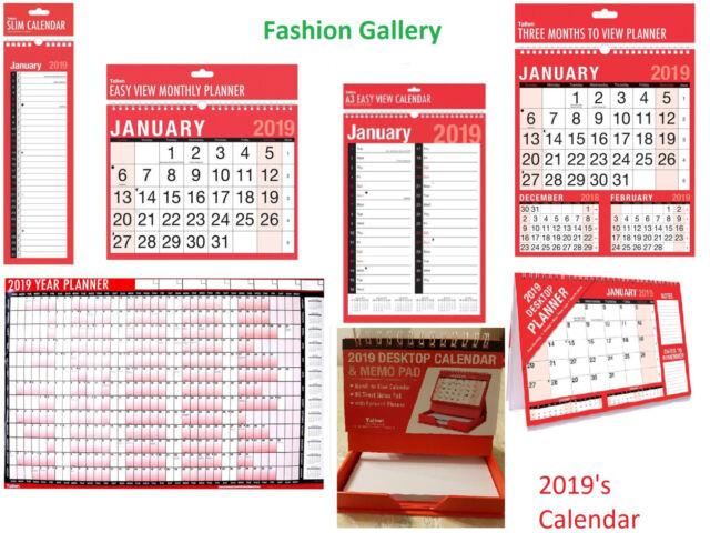 2020 Square Flip Month to View Calendar Desktop Wall Planner Organiser Hanging