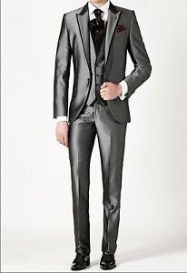 Designer Coat Pants   Mens Designer 3 Piece Suit Grooms Wedding Dinner Jacket Party Wear