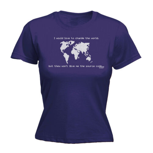 Love To Change The World Wont Give Me Source Code WOMENS T-SHIRT Gift birthday