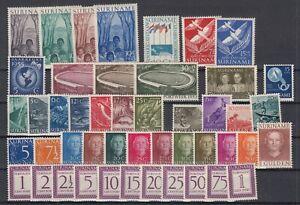 Z4649-NETHERLANDS-SURINAM-1953-1956-MINT-MNH-SEMI-MODERN-LOT-CV-190