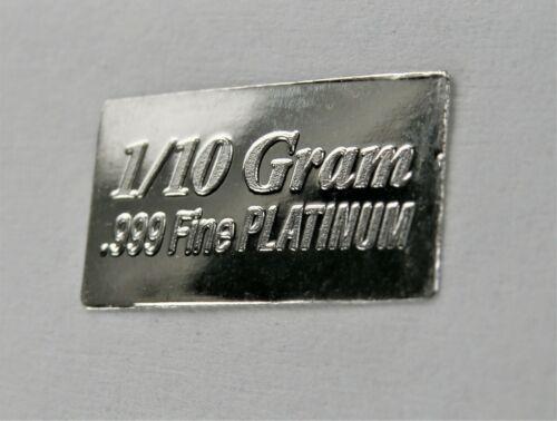 1//10 Gram Gold /& Platinum Bar COMBO 999 Fine Bullion Bars in sealed certcard a31